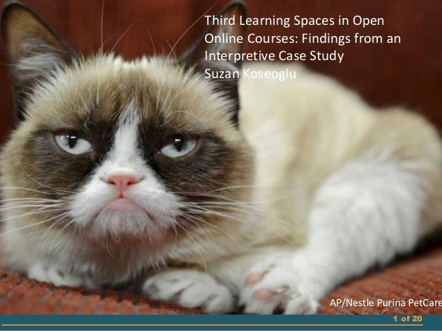 1 of 20 Third Learning Spaces in Open Online Courses: Findings from an Interpretive Case Study Suzan Koseoglu AP/Nestle Pu...