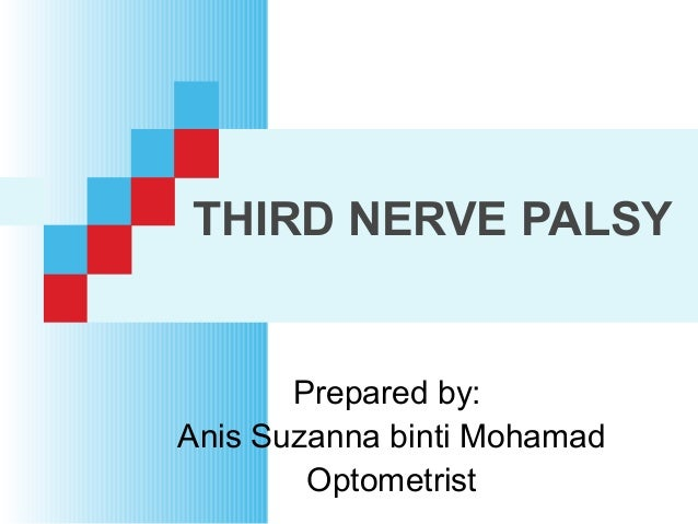 THIRD NERVE PALSY Prepared by: Anis Suzanna binti Mohamad Optometrist