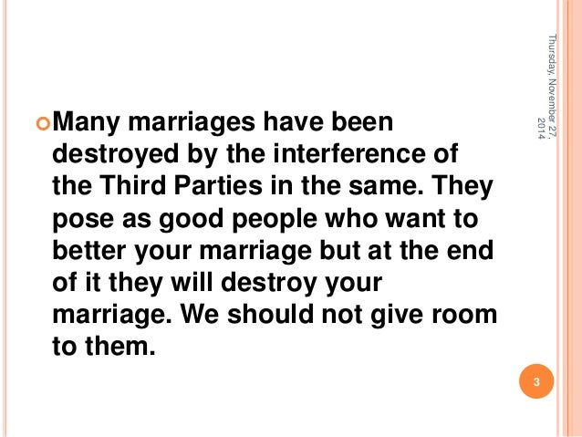 Interfering In Other People S Relationships Quotes: Third Parties Affect Our Marriages