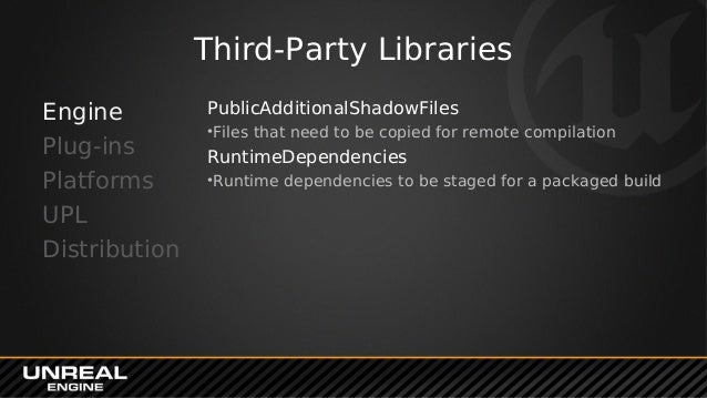 Plug-ins & Third-Party SDKs in UE4