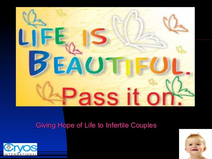 Giving Hope of Life to Infertile Couples