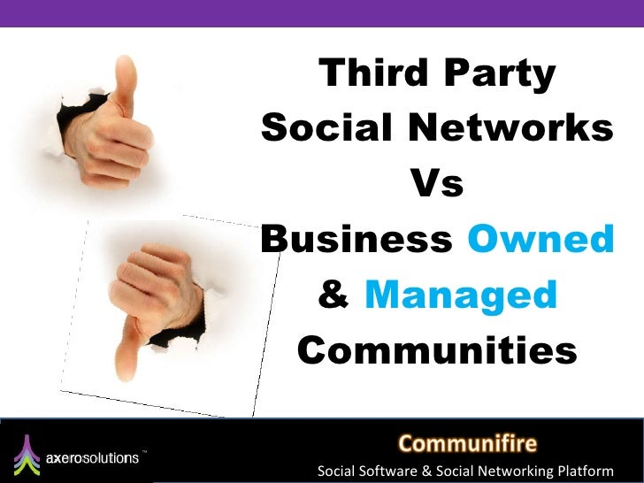 Third Party Social Networks Vs Business  Owned  &  Managed  Communities Social Software & Social Networking Platform