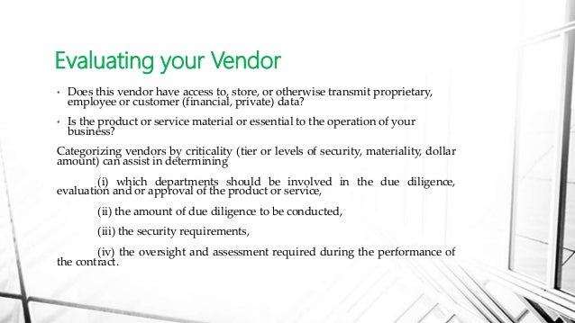 Third Party Vendor Contract Risk Management – Vendor Contract
