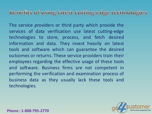 Avail Third Party Verification Services to Ensure ...