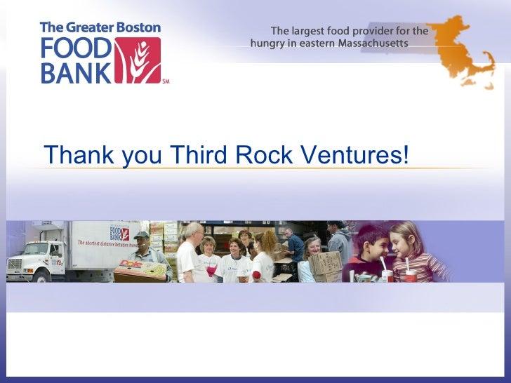 Thank you Third Rock Ventures!