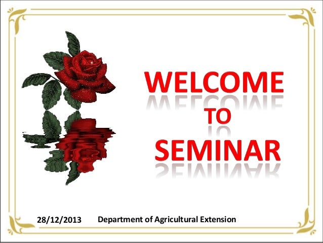 28/12/2013  Department of Agricultural Extension