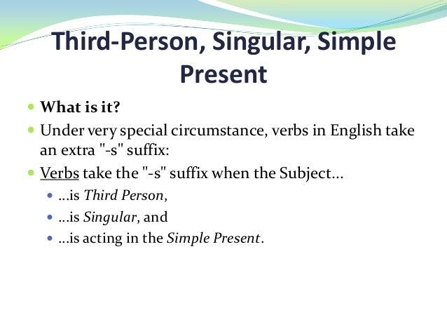 Third Singular Person Genesisortizf