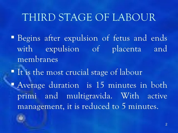 Third stage labour complication Slide 2