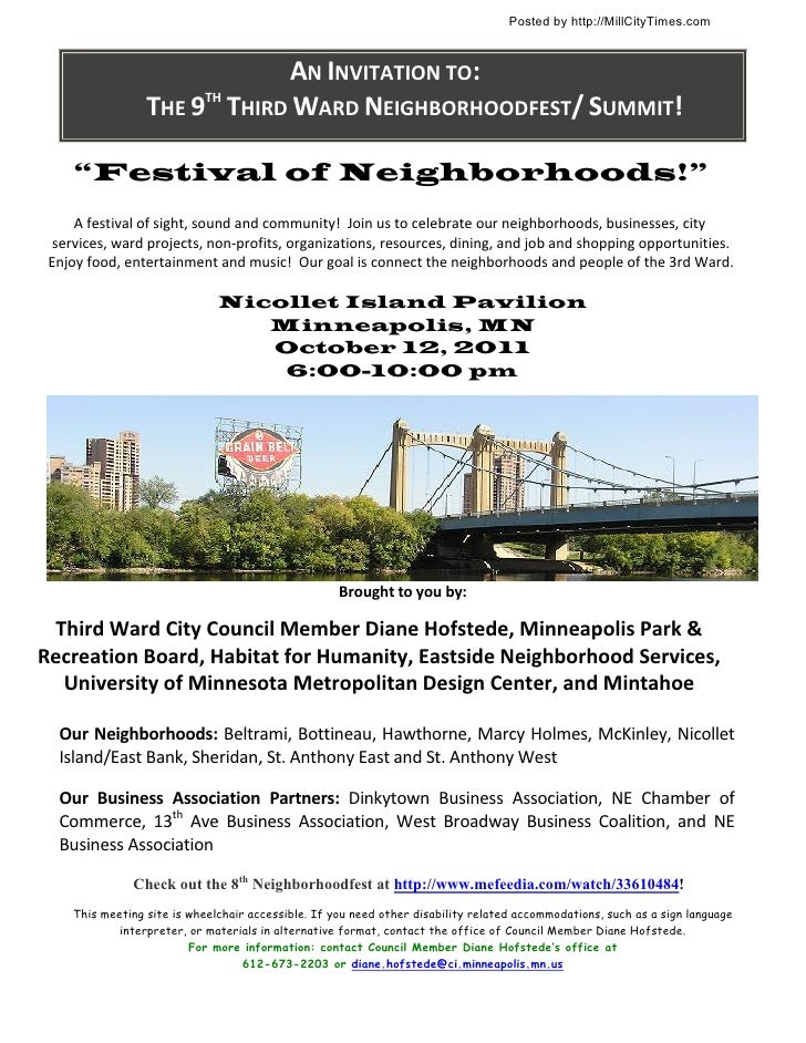 Posted by http://MillCityTimes.com                                  AN INVITATION TO:                      THE 9TH THIRD W...
