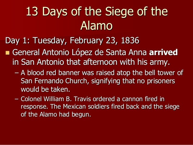 Image result for the siege of the   alamo began