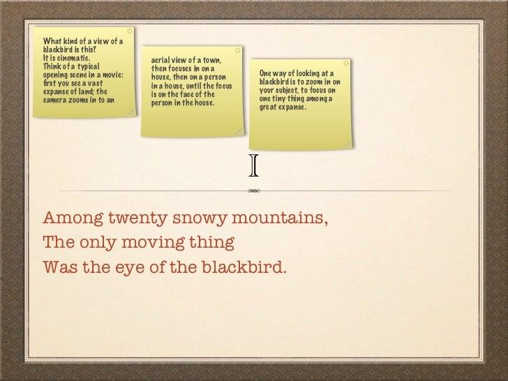 thirteen ways of looking at a blackbird analysis