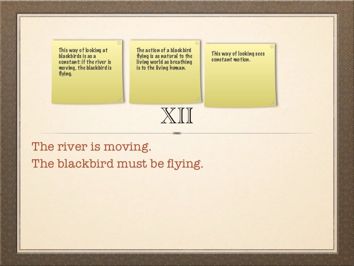thirteen ways of looking at a blackbird pdf