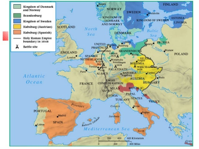 Thirty Years War Peace Of Westphalia - Map germany thirty years war