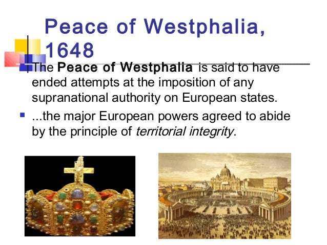 the peace of westphalia 1648 [introductory note: the peace of westphalia was the treaty that ended the thirty  years' war in europe (1618-1648) in fact it was two treaties: the first, signed in.