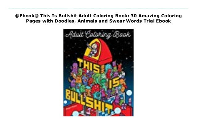 bullshit adult coloring book