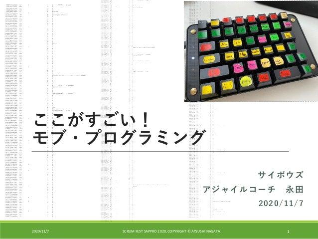 Slide Top: ここがすごい!モブ・プログラミング