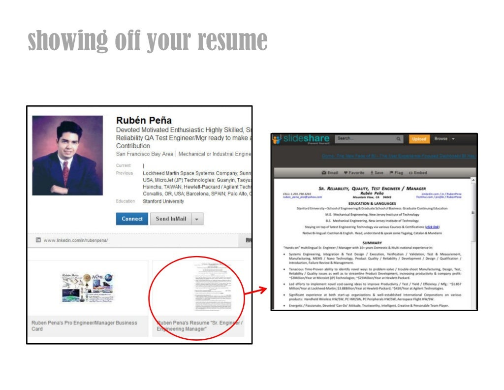 Showing Off Your Resume