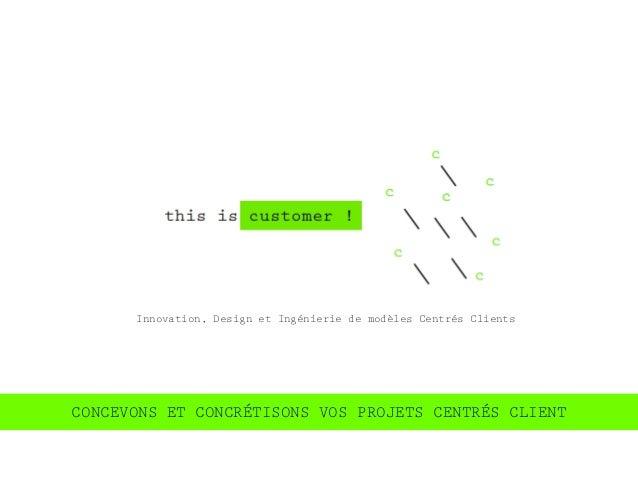 Innovation, Design et Ingénierie de modèles Centrés ClientsCONCEVONS ET CONCRÉTISONS VOS PROJETS CENTRÉS CLIENT