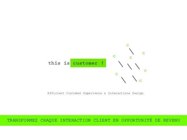 Efficient Customer Experience & Interactions DesignTRANSFORMEZ CHAQUE INTERACTION CLIENT EN OPPORTUNITÉ DE REVENU