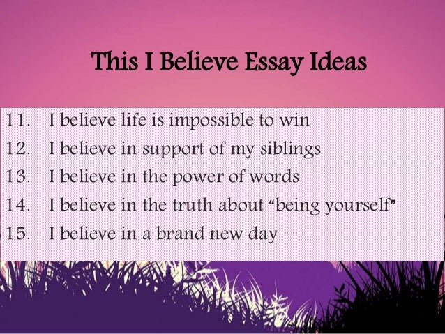 believe in family essay