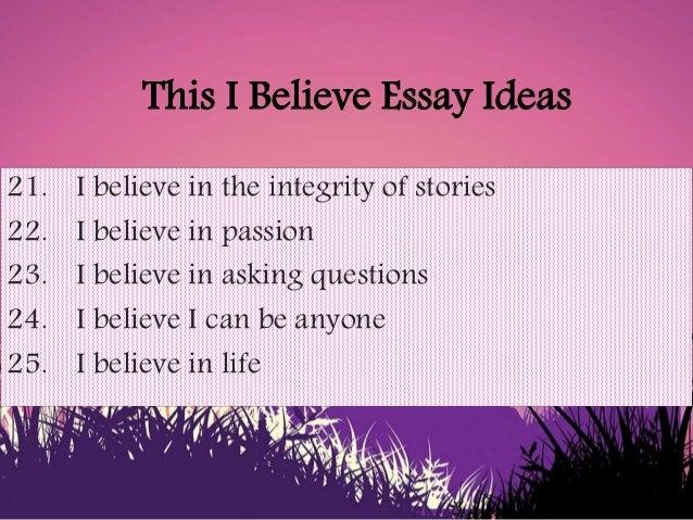 This i believe essays honesty