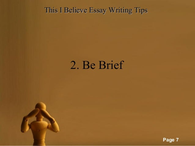 This i believe essays for kids