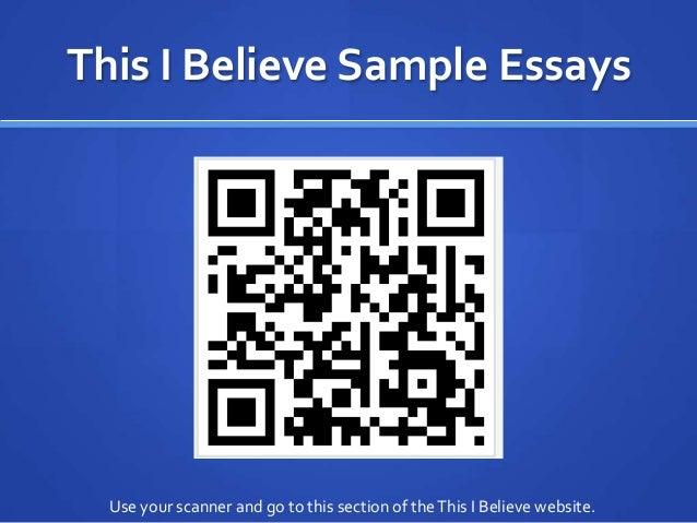 Npr this i believe essays