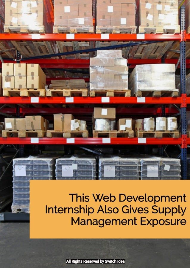 This internship lets you gain web development experience