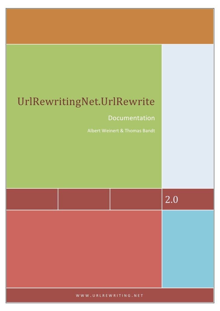 UrlRewritingNet.UrlRewrite                             Documentation                     Albert Weinert & Thom...