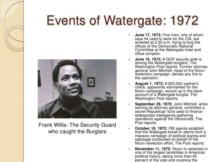 a history of watergate in 1972 Nixon white house tapes watergate trial conversations transcripts home associated milk producers political action committee and the advisability of maintaining milk price supports as the 1972 general election campaign dean recaps the history of the watergate break-in and subsequent.
