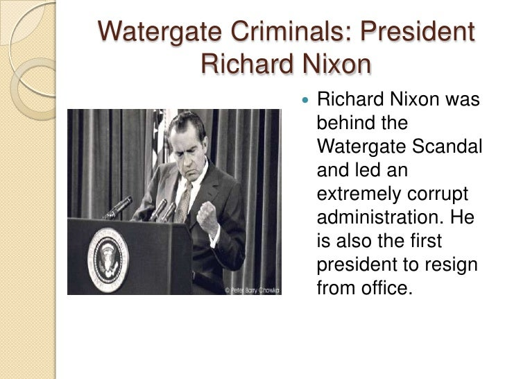 account of the administration of richard nixon and the watergate scandal Watergate may be the most famous story in american investigative journalism  history it led to impeachment hearings, president nixon's resignation from office,  and a  on administrative practices and procedure, began another  investigation.