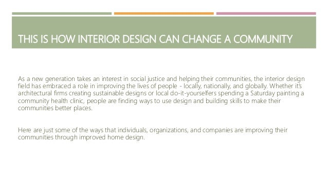 THIS IS HOW INTERIOR DESIGN CAN CHANGE A COMMUNITY EUGENE CHRINIAN; 2.
