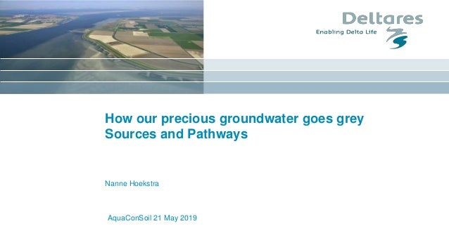 AquaConSoil 21 May 2019 How our precious groundwater goes grey Sources and Pathways Nanne Hoekstra