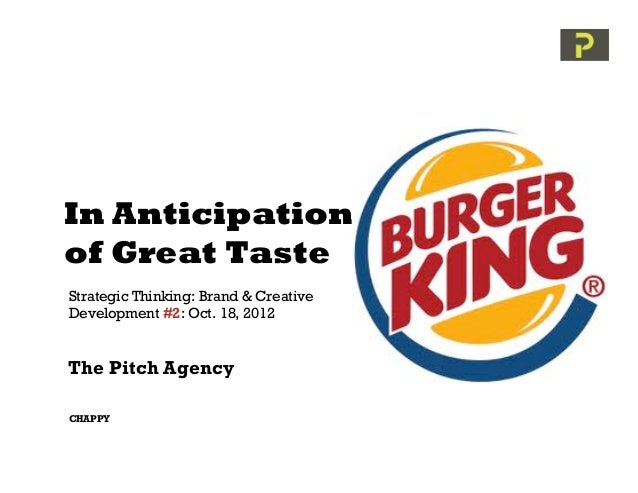 In Anticipationof Great TasteStrategic Thinking: Brand & CreativeDevelopment #2: Oct. 18, 2012The Pitch AgencyCHAPPY