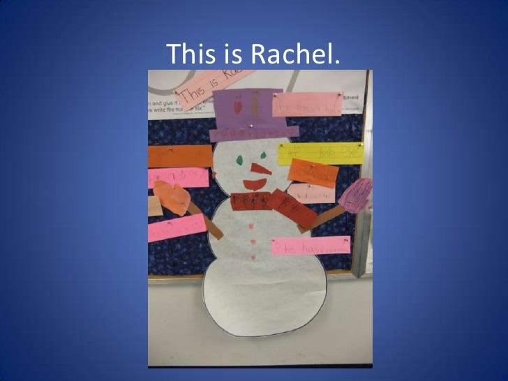 This is Rachel.<br />