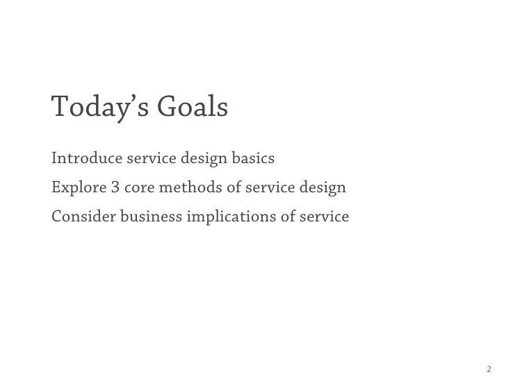 This Is Service Design – UX Week 2011 Slide 2