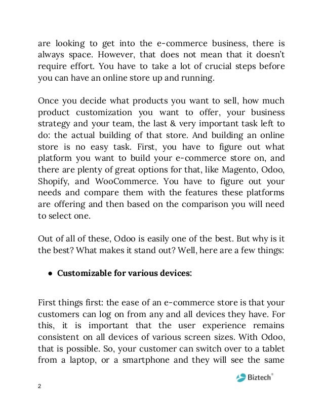 are looking to get into the e-commerce business, there is          always space. However, that does not mean tha...