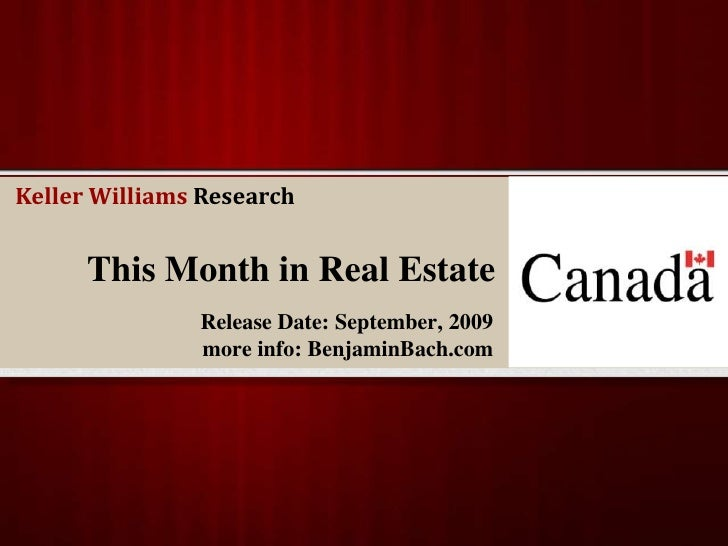 This Month in Real Estate<br />Release Date: September, 2009<br />more info: BenjaminBach.com  <br />