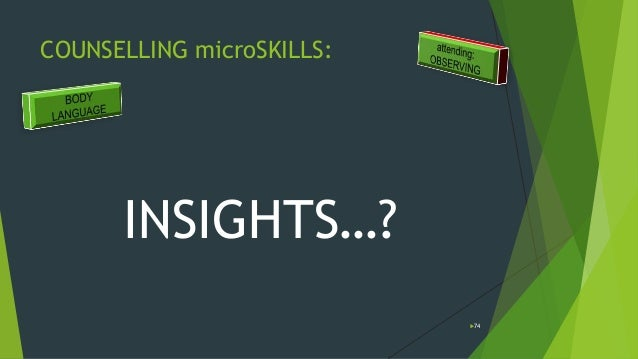 microskills in counselling Counselling micro skills chapter 1 - introduction in this course you will briefly consider the core communication skills of counselling: those fundamental.