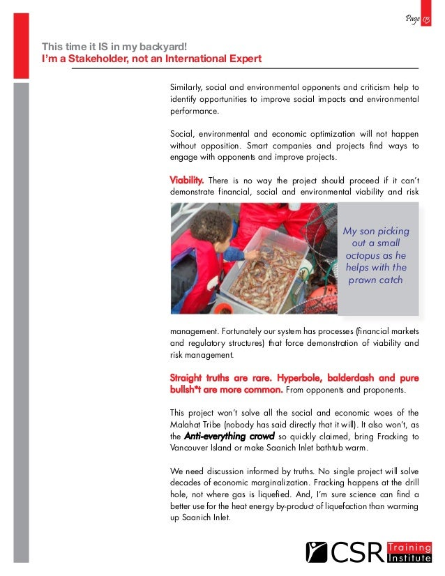 Page 03 Similarly, social and environmental opponents and criticism help to identify opportunities to improve social impac...