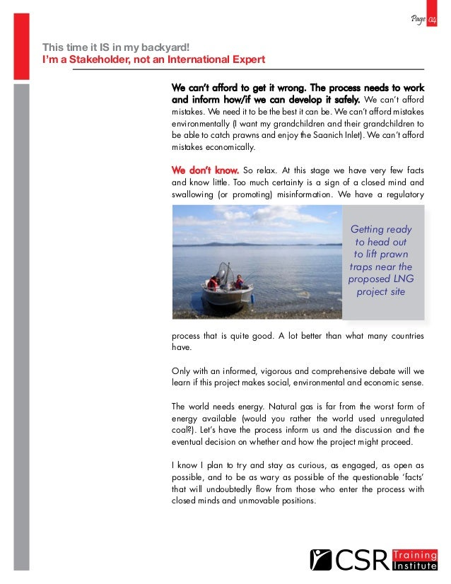Page 04 We can't afford to get it wrong. The process needs to work and inform how/if we can develop it safely. We can't af...
