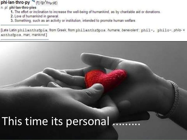 This time its personal .........