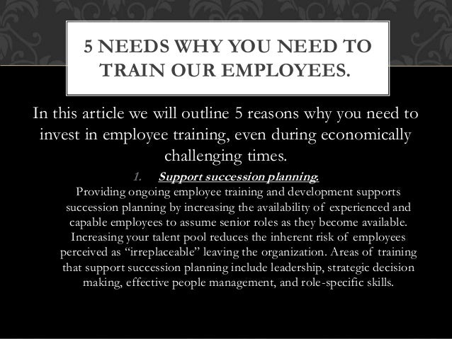 In this article we will outline 5 reasons why you need to invest in employee training, even during economically challengin...