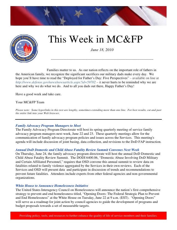 This Week in MC&FP                                                                 June 18, 2010                          ...