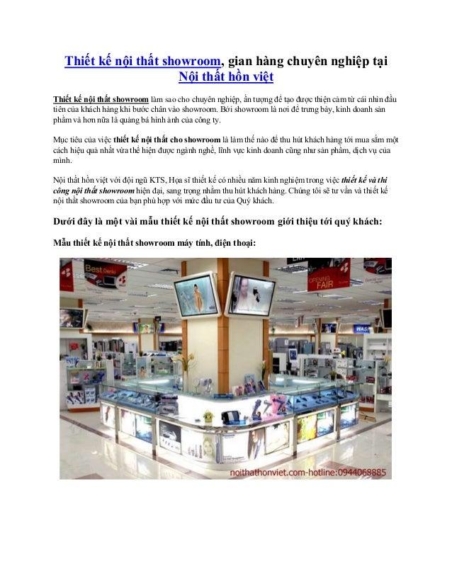 Thiết kế nội thất showroom, gian hàng chuyên nghiệp tại Nội thất hồn việt Thiết kế nội thất showroom làm sao cho chuyên ng...