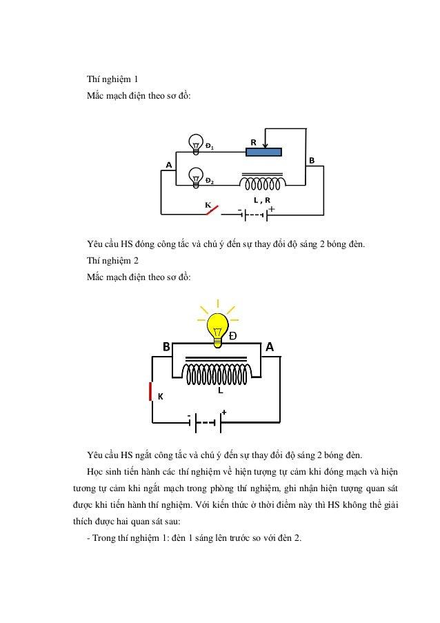 Thí nghiệm 1 Mắc mạch điện theo sơ đồ: Yêu cầu HS đóng công tắc và chú ý đến sự thay đổi độ sáng 2 bóng đèn. Thí nghiệm 2 ...