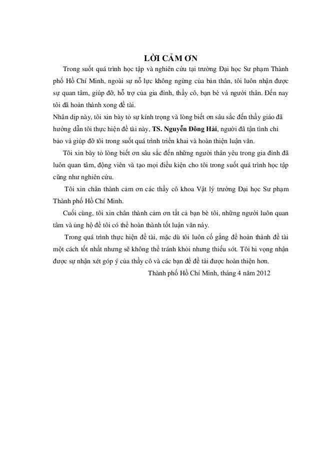 LỜI CẢM ƠN Trong suốt quá trình học tập và nghiên cứu tại trường Đại học Sư phạm Thành phố Hồ Chí Minh, ngoài sự nỗ lực kh...