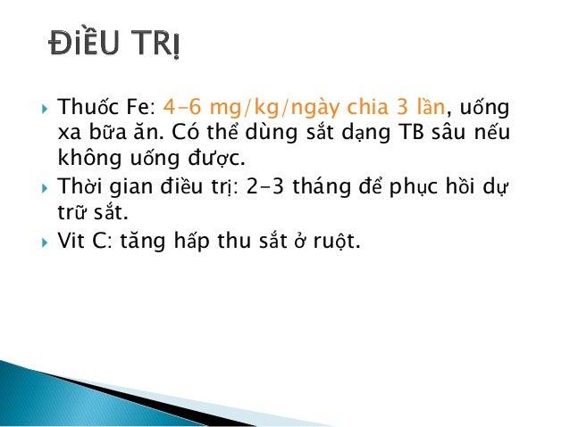  Đáp ứng điều trị:  12-24h: phục hồi enzyme, ăn được, ↓kt'  36-48h:đáp ứng tủy, HC non tăng sinh.  48-72h: Reticulocyt...
