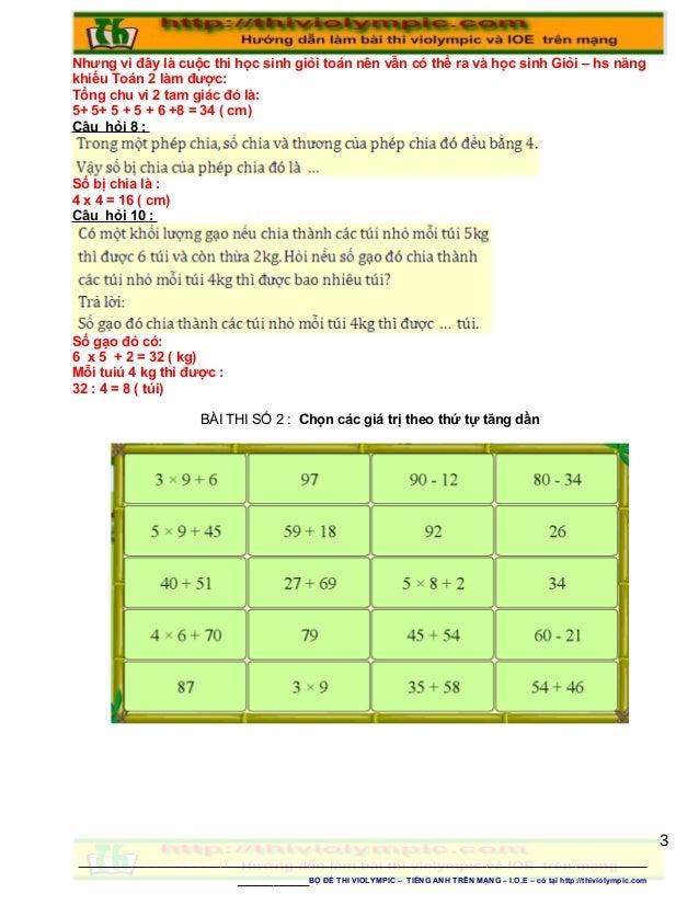 Nhưng vì đây là cuộc thi học sinh giỏi toán nên vẫn có thể ra và học sinh Giỏi – hs năng khiếu Toán 2 làm được: Tổng chu v...