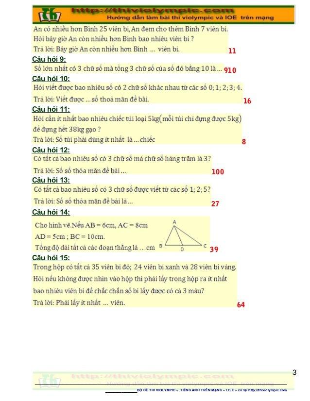 11 Câu hỏi 9: 910 Câu hỏi 10: 16 Câu hỏi 11: 8 Câu hỏi 12: 100 Câu hỏi 13: 27 Câu hỏi 14: 39 Câu hỏi 15: 64 ______________...